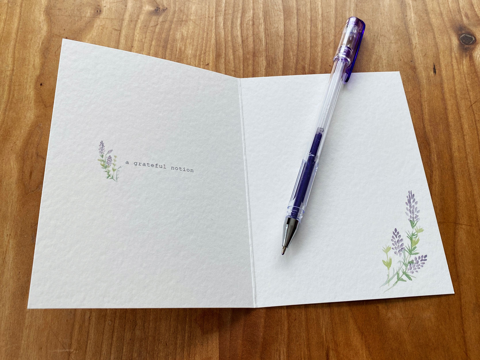 Inside details of a Kindness Roots gratitude card