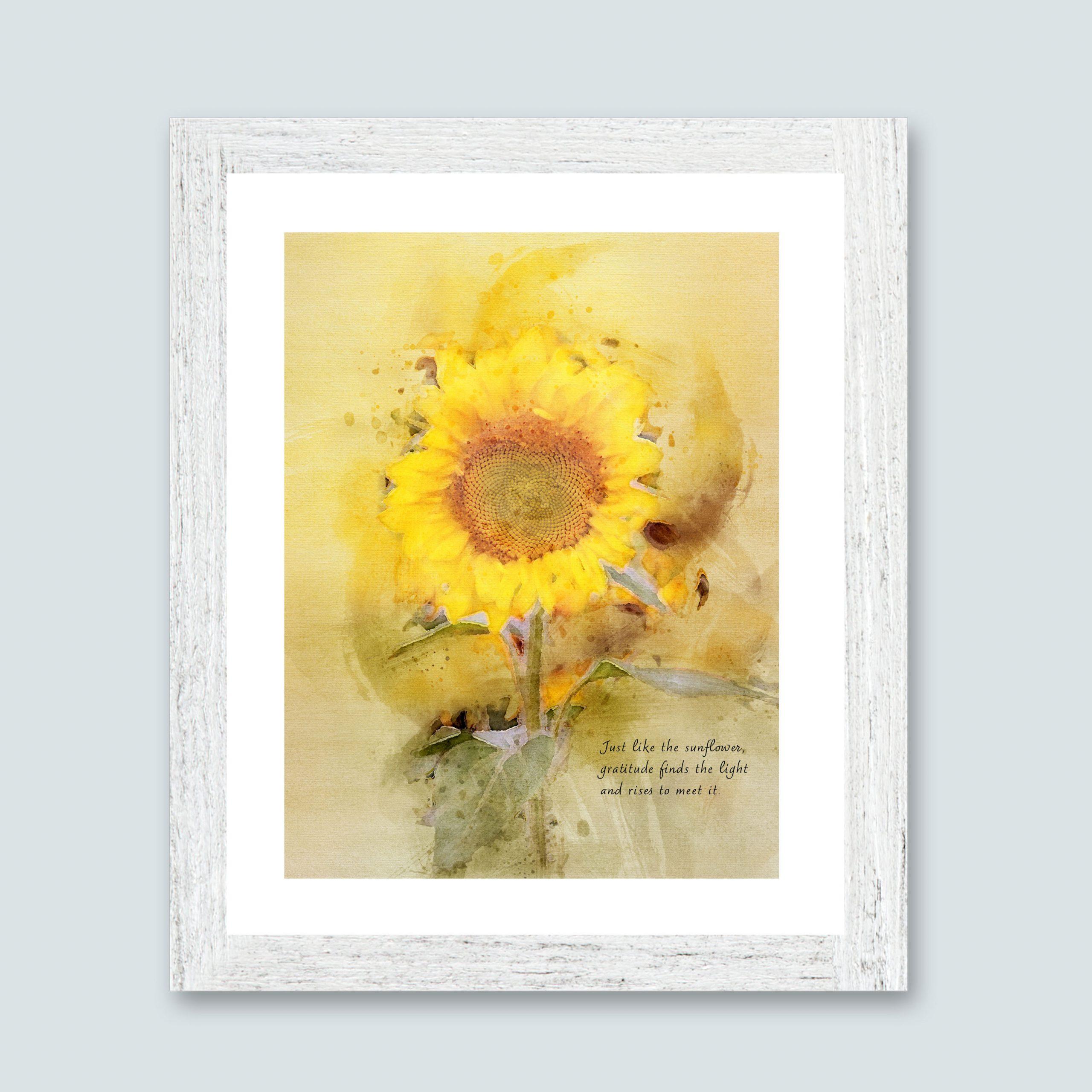 Art of Gratitude Framed Sunflower Print